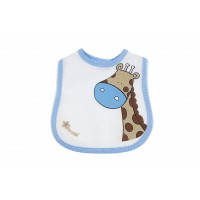 Bavaglino maschio/femmina giraffa - Azzurro