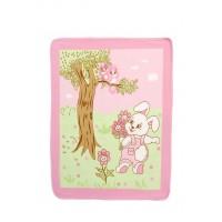 Coperta pile - verde/rosa