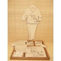 Corredino - kit 10 pz cotone organico maschio - orsetto